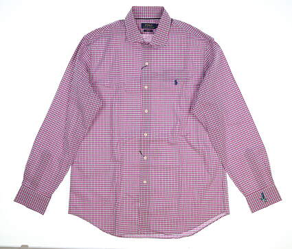New Mens Ralph Lauren Golf Button Up Large L Red MSRP $120