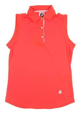 New W/ Logo Mens Footjoy Golf Sleeveless Polo Medium M Orange MSRP $68 27095