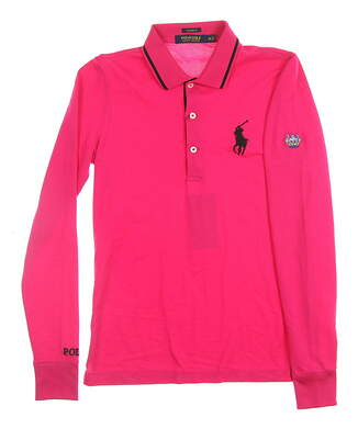 New W/ Logo Womens Ralph Lauren All Long Sleeve Polo X-Small XS Pink