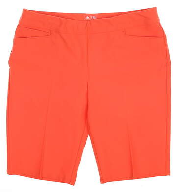 New Womens Adidas Ultimate Bermuda Golf Shorts Size Large L Coral MSRP $70 BC7754