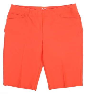 New Womens Adidas Ultimate Bermuda Golf Shorts Size X-Large XL Pink MSRP $70 BC7754