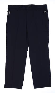 New Mens Adidas Climalite Golf Pants 38x30 Navy Blue MSRP $110 B82627
