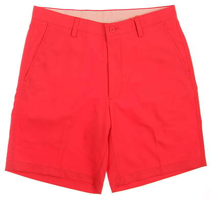 New Mens Fennec Golf Flat Front Shorts Size 32 Red MSRP $89 171F600