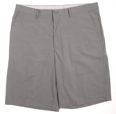 New Mens Fennec Golf Flat Front Shorts Size 38 Gray MSRP $79 151F350