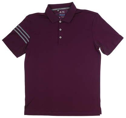 New Mens Adidas 3-Stripe Club Polo Medium M Purple MSRP $60 CF0256