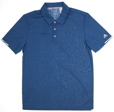 New Mens Adidas Climachill Solid Club Polo Medium M Blue MSRP $75 BC2970