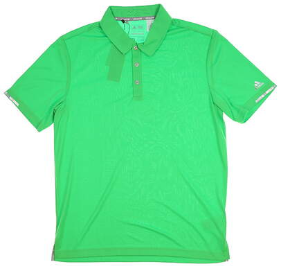 New Mens Adidas Climachill Solid Club Polo Medium M Green MSRP $75 BC2960