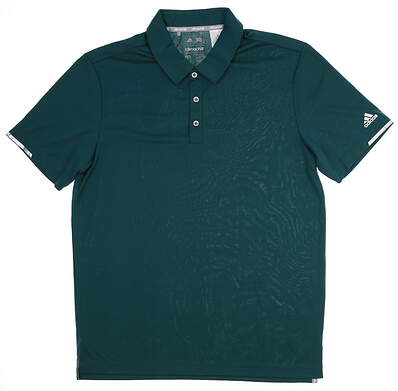 New Mens Adidas Climachill Solid Club Polo Medium M Green MSRP $75 BC2969
