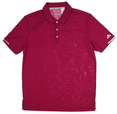 New Mens Adidas Climachill Solid Club Polo Medium M Pink MSRP $75 BC2965