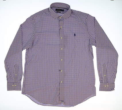 New Mens Ralph Lauren Golf Button Up Large L Purple MSRP $99 781640884003