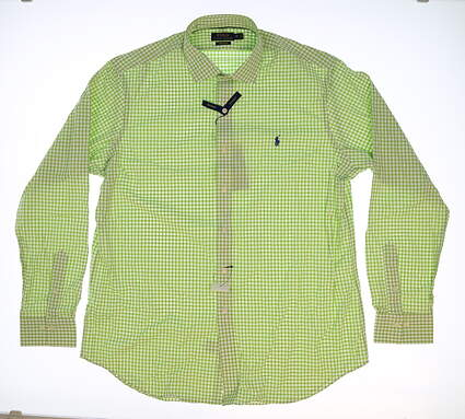 New Mens Ralph Lauren Golf Button Up X-Large XL Green MSRP $99 781640884002