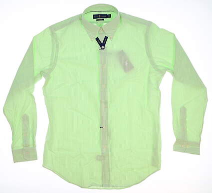 New Mens Ralph Lauren Button Up Medium M Green MSRP $100 781640889003