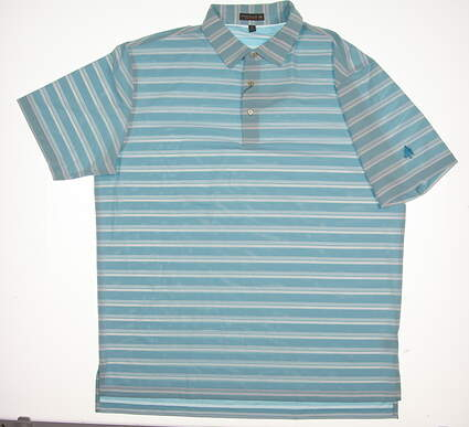 New W/ Logo Mens Peter Millar Golf Polo X-Large XL Blue MSRP $85 MS17EK54S