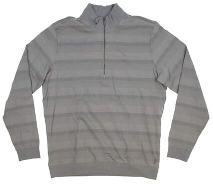 New Mens Ashworth 1/2 Zip Golf Pullover Medium M Gray MSRP $80 BC1797