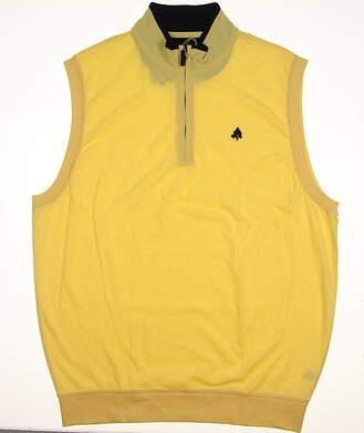 New W/ Logo Mens Fairway & Greene Golf 1/4 zip Vest X-Small XS Yellow MSRP $94 C11152