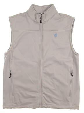 New W/ Logo Mens Dunning Fullzip Vest Medium M Gray MSRP $169