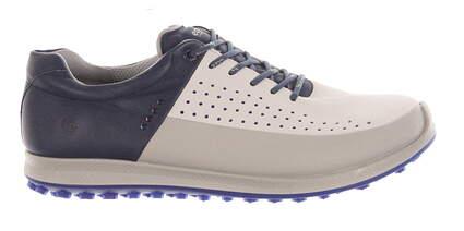 New Mens Golf Shoe Ecco BIOM Hybrid 2 HM 42 (8-8.5) White/Blue MSRP $195 15152456416