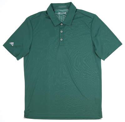 New Mens Adidas Climachill Club Polo Medium M Green MSRP $65 AF0616