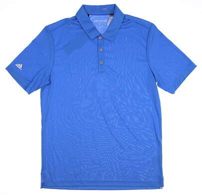 New Mens Adidas Climachill Club Polo Medium M Blue MSRP $65 AF0613