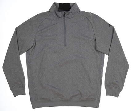 New Mens Adidas Club 1/2 Zip Pullover Medium M Gray MSRP $85 BC2490