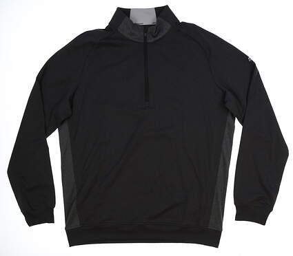 New Mens Adidas Club 1/2 Zip Pullover Medium M Black MSRP $85 BC2489