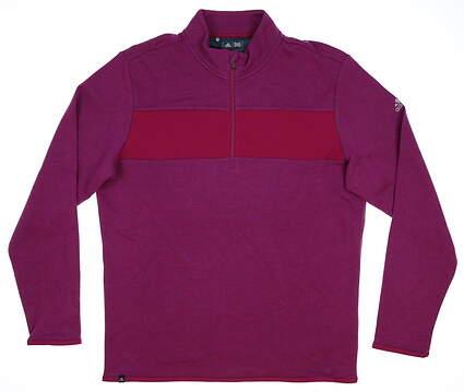 New Mens Adidas Club Performance 1/4 Zip Pullover Medium M Purple MSRP $85 BC2320