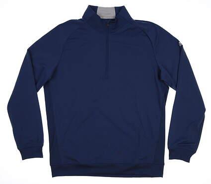 New Mens Adidas Club 1/2 Zip Pullover Medium M Blue MSRP $85 BC5665