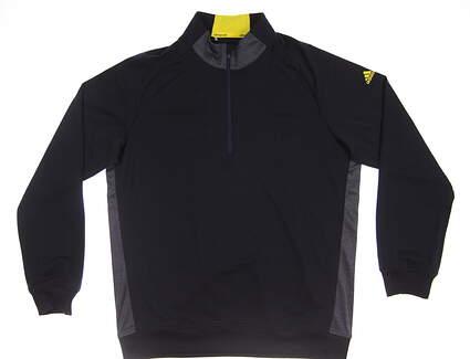 New Mens Adidas Club 1/2 Zip Pullover Medium M Navy Blue MSRP $85 BC2553