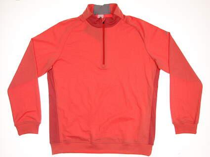 New Mens Adidas Club 1/2 Zip Pullover Medium M Orange MSRP $85 BC6973
