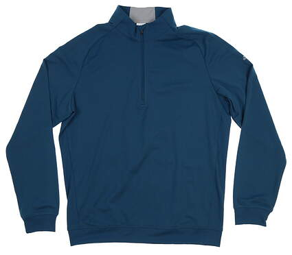 New Mens Adidas Club 1/2 Zip Pullover Medium M Blue MSRP $85 BC6974