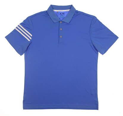 New Mens Adidas Climacool 3-Stripe Club Polo Medium M Blue MSRP $60 BC2434