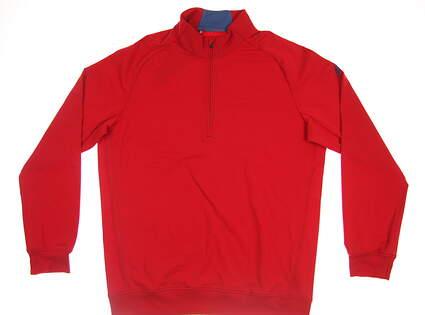 New Mens Adidas Club 1/2 Zip Pullover Medium M Red MSRP $85 BC2495