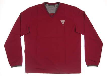 New W/ Logo Mens Ashworth All Sweater Medium M Red MSRP $76 Z67991