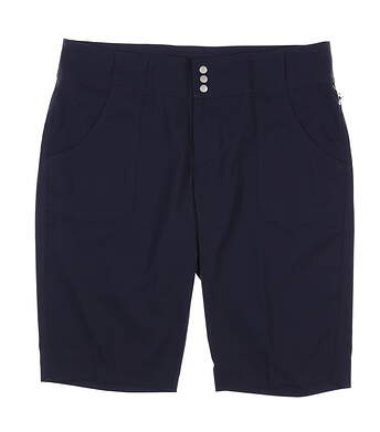 New Womens Jo Fit Golf Belted Bermuda Shorts Size 8 Navy Blue MSRP $89 GB517