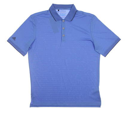 New Mens Adidas Climacool Club Tipped Polo Medium M Blue MSRP $75 AF0605