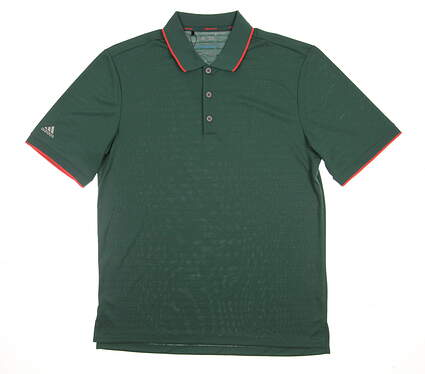 New Mens Adidas Climacool Club Tipped Polo Medium M Green MSRP $75 AF0608