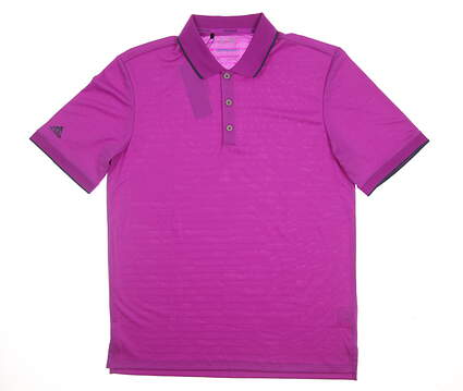 New Mens Adidas Climacool Club Tipped Polo Medium M Purple MSRP $75 AF1687