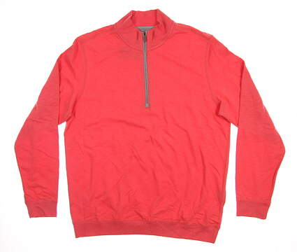 New Mens Ashworth 1/2 Zip Golf Pullover Medium M Pink MSRP $85 AM4087S6