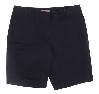 New Womens Vineyard Vines Golf Bermuda Shorts Size 8 Navy Blue MSRP $85 2H0046