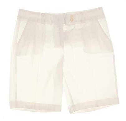 New Womens Vineyard Vines Golf Bermuda Shorts Size 8 White MSRP $85 2H0046