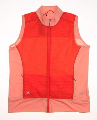 New Womens Adidas All Vest X-Large XL Orange MSRP $75