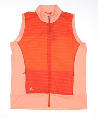 New Womens Adidas All Vest Small S Orange MSRP $75 BC4048
