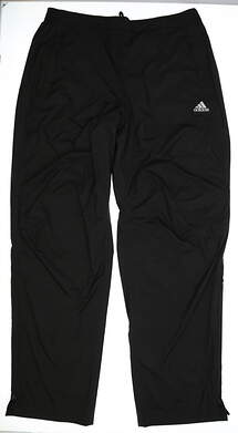 New Mens Adidas Golf Climaproof Pants Size X-Large XL Black MSRP $170