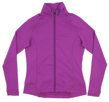 New W/ Logo Womens Peter Millar All Sweater Small S Purple MSRP $110 LS15EK15