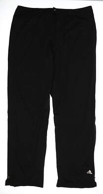 New Mens Adidas Climaproof Provisional Rain Pants Size X-Large XL Black MSRP $170