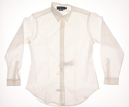 New Mens Ralph Lauren Golf Button Up Large L White MSRP $100