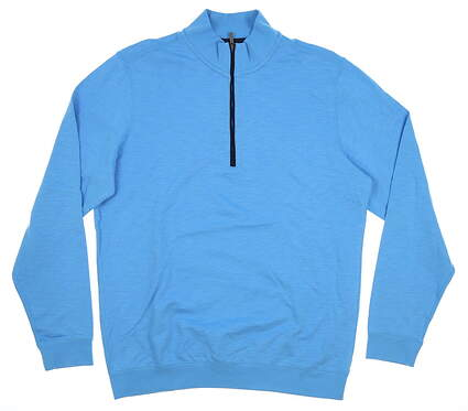 New Mens Ashworth 1/4 Zip Pullover Medium M Blue MSRP $85 AM4087S6