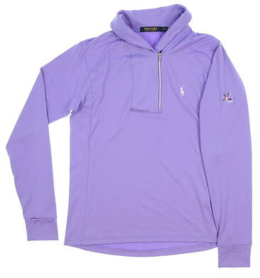 New W/ Logo Womens Ralph Lauren All 1/4 Zip Pullover Medium M Purple MSRP $80