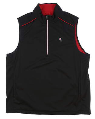 New W/ Logo Mens Greg Norman Vest Medium M Black MSRP $80 G7S5J005