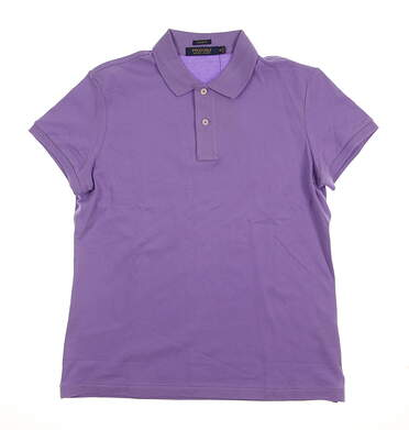 New Womens Ralph Lauren Golf Polo Medium M Purple MSRP $90